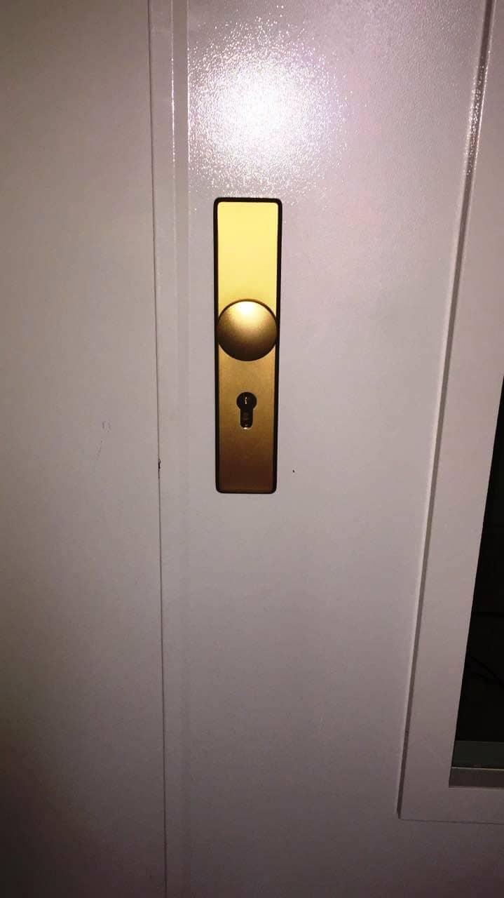 Металлическая дверь, противопожарный замок антипаника Abus (Абус), дверные ручки Abus (Абус)